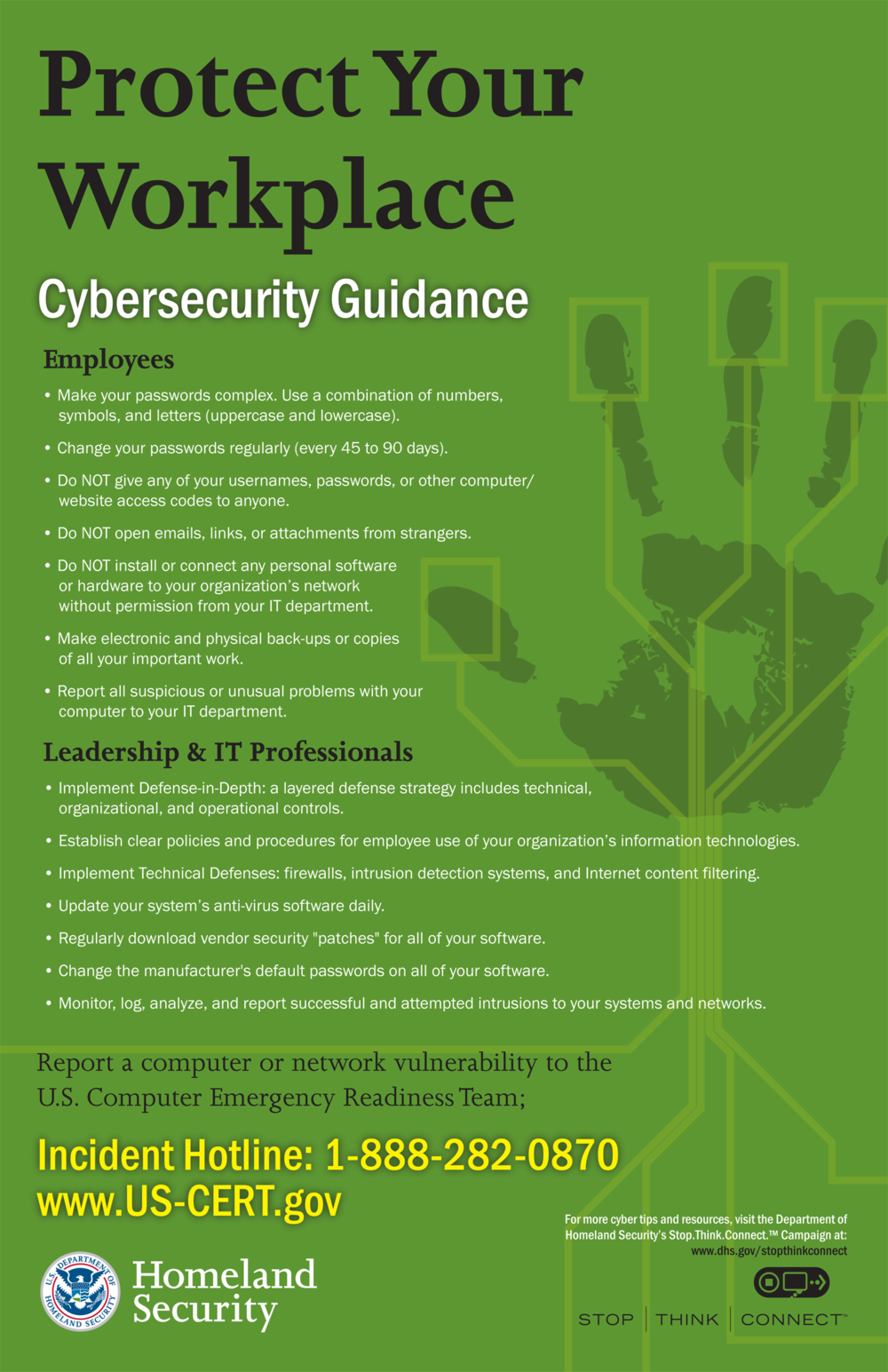 Top 20 Security Awareness Posters with messages that STICK